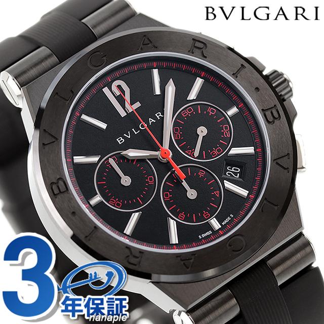 new styles bd30f 2880d Bulgari clock BVLGARI ディアゴノウルトラネロ self-winding watch chronograph  DG42BBSCVDCH/1 watch