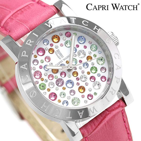 カプリウォッチ マルチジョイ 34mm スワロフスキー 腕時計 Art 5248 04 CAPRI WATCH ピンク 時計
