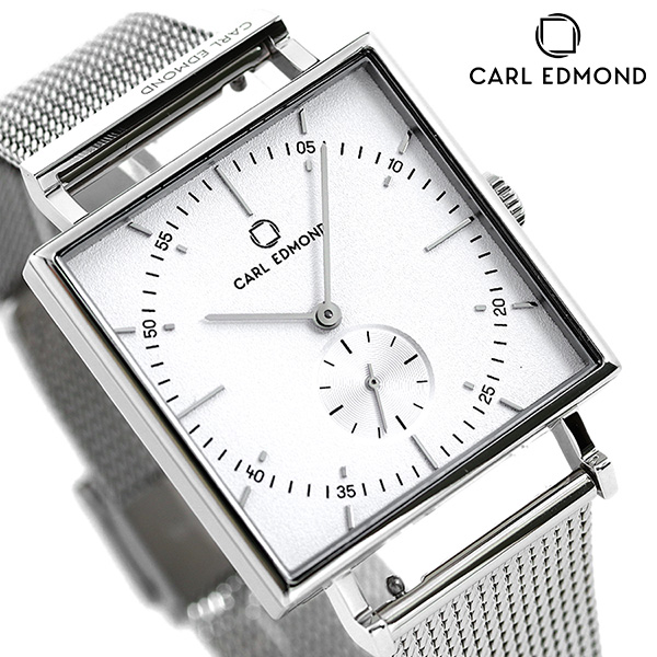 カールエドモンド CARL EDMOND メンズ 腕時計 北欧 シンプル ミニマリズム CEG3401-M21 グラニット 34mm ホワイト 時計【あす楽対応】