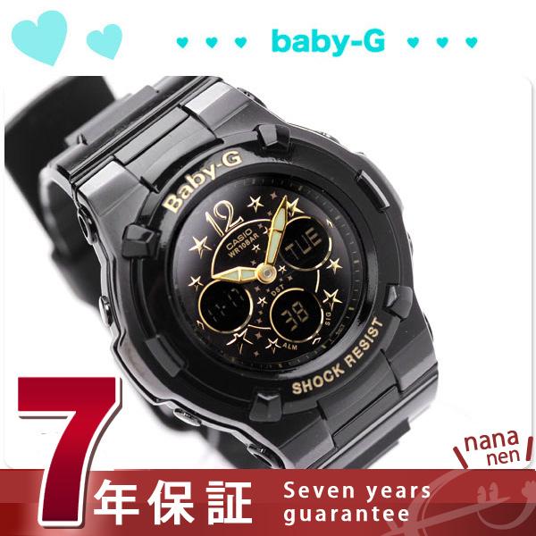 卡西欧Baby-G手表婴儿G明星索引系列黑色×黄金BGA-113B-1BDR
