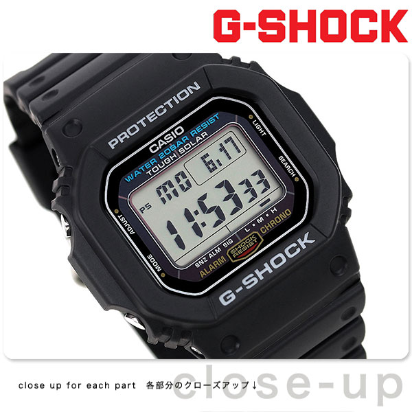 G-5600E-1DR CASIO G-SHOCK太阳能5600