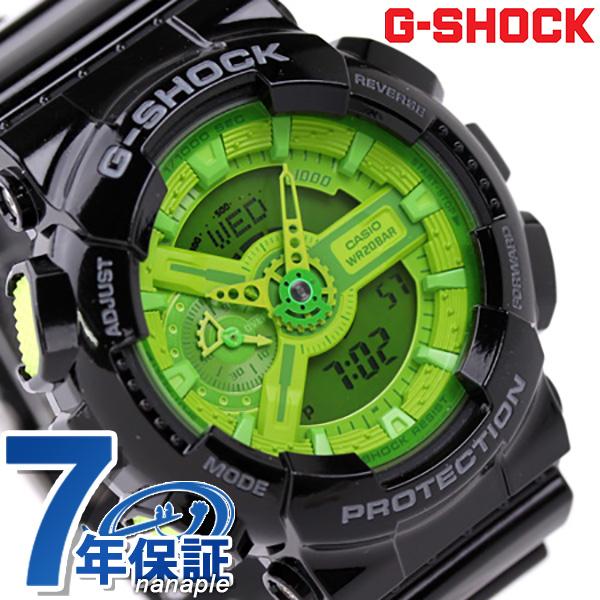 GA-110B-1A3DR CASIO G-SHOCK G-打击超级·彩色黑色×绿色
