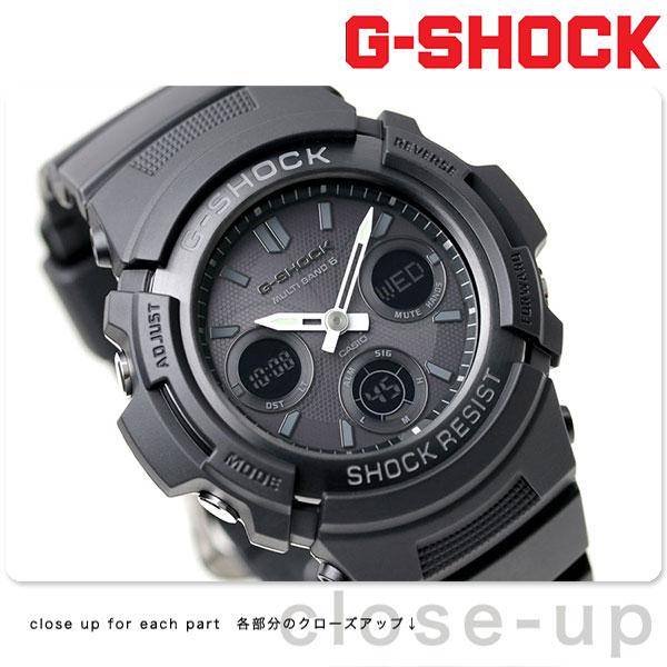 G-SHOCK 電波 ソーラー CASIO AWG-M100B-1ACR アナデジ 腕時計 カシオ Gショック オールブラック【あす楽対応】