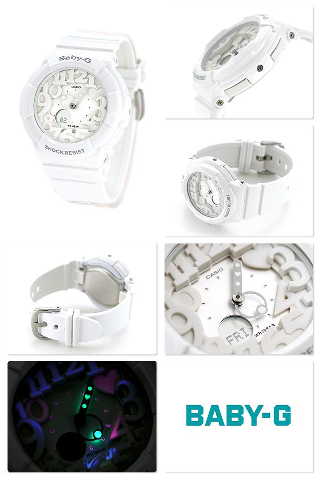 Casio Baby-G Watch Baby-G Neon Dial Series, White, BGA-131-7BDR