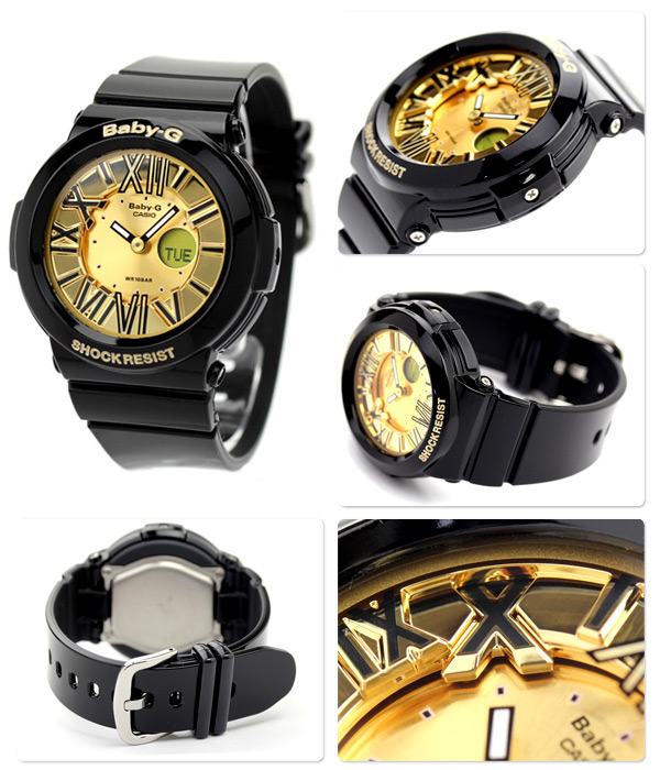 Baby G CASIO watch neon dial series an analog-digital gold * black baby-g CASIO BGA-160-1BDR