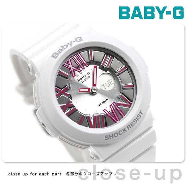 店内ポイント最大43倍!16日1時59分まで! Baby-G レディース CASIO ネオンダイアルシリーズ アナデジ シルバー × ピンク BGA-160-7B2DR 腕時計 時計【あす楽対応】