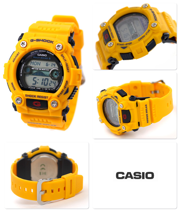 GW-7900CD-9ER CASIO G-SHOCK G-打擊電波太陽能復古彩色黄色