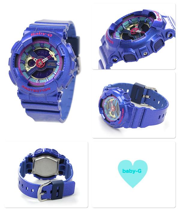 Baby-G女士手錶石英BA-112-2ADR卡西歐嬰兒G藍色