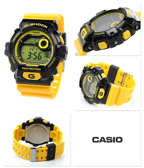 G-8900SC-1YDR G打击卡西欧手表人发疯彩色黄色CASIO G-SHOCK