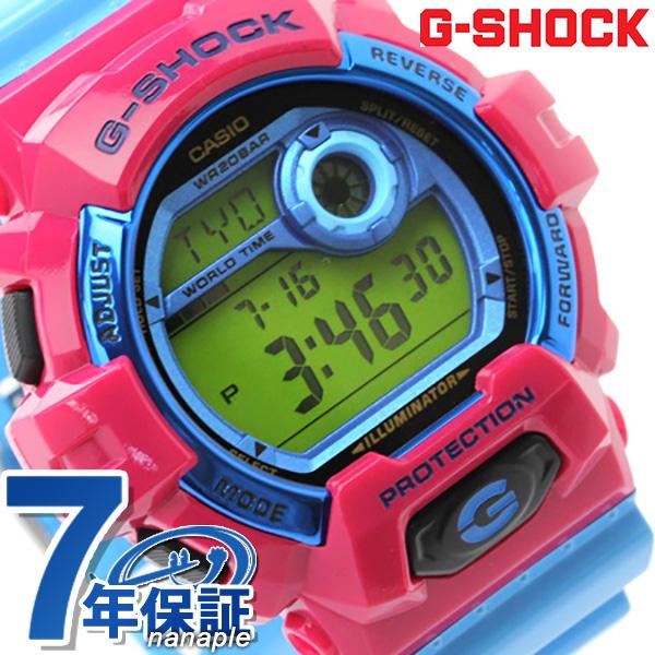 G-8900SC-4DR G打击卡西欧手表人发疯彩色绿色×淡蓝色CASIO G-SHOCK