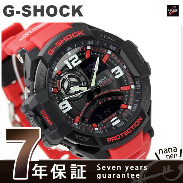 G-SHOCK CASIO GA-1000-4BDR SKY COCKPIT メンズ 腕時計 カシオ Gショック スカイコックピット ブラック × レッド 時計【あす楽対応】