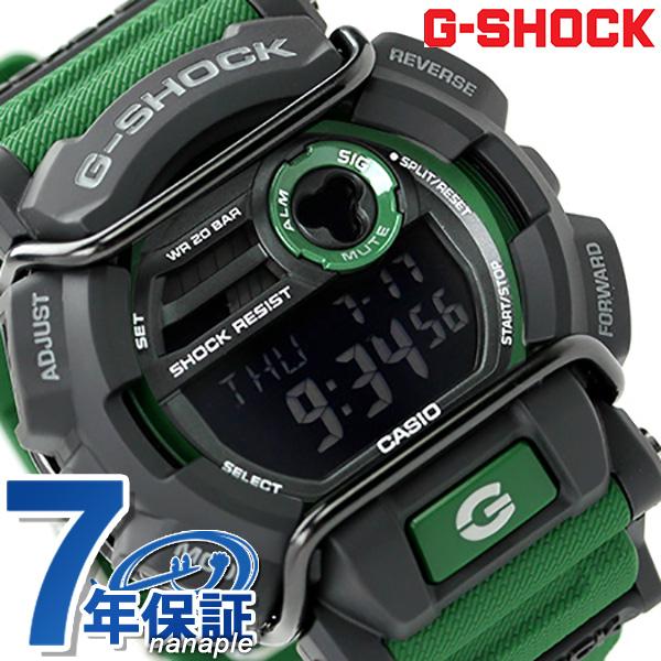 check out 78ecc 95bd8 GD-400-3DR g-shock protector men's watch quartz Casio G-shock black x Green