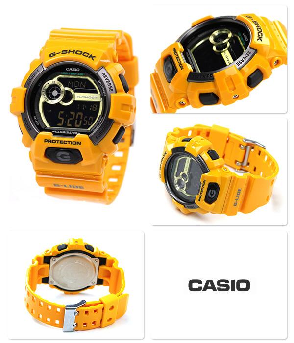 GLS-8900-9DR G shock G-ride men's quartz CASIO g-shock Watch Black × Yellow