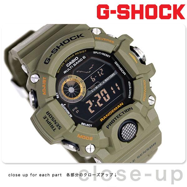 G-SHOCK CASIO GW-9400-3DR マスターオブG レンジマン メンズ 腕時計 カシオ Gショック ブラック × カーキ 時計【あす楽対応】