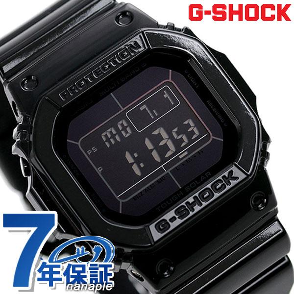 10日なら!店内ポイント最大45倍! G-SHOCK 電波 ソーラー CASIO GW-M5610BB-1ER 腕時計 カシオ Gショック グロッシー・ブラックシリーズ オールブラック 時計【あす楽対応】