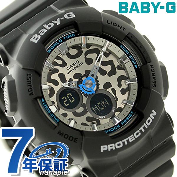 Baby-g Leopard series ladies watch BA-120LP-1ADR Casio baby-G Silver / Black