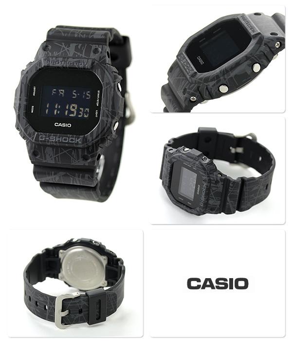DW-5600SL-1DR G-SHOCK斜线·模式·系列人卡西欧G打击手表全部黑色