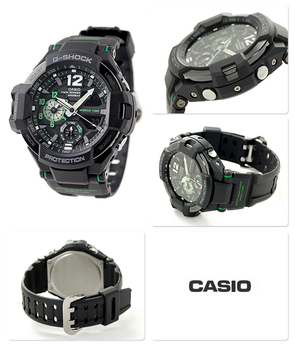 GA-1100-1 A3DR g-shock sky cockpit mens watch Casio G shock Quartz Black
