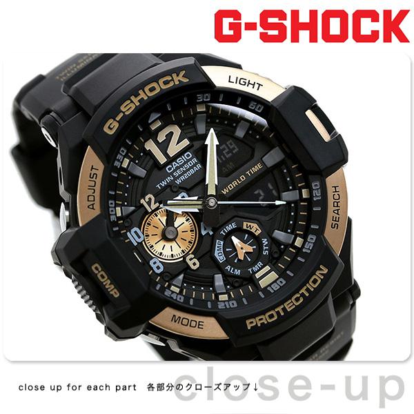 G-SHOCK ブラック CASIO GA-1100-9GDR SKY COCKPIT グラビティマスター メンズ 腕時計 カシオ Gショック スカイコックピット ブラック × ローズゴールド 時計【あす楽対応】