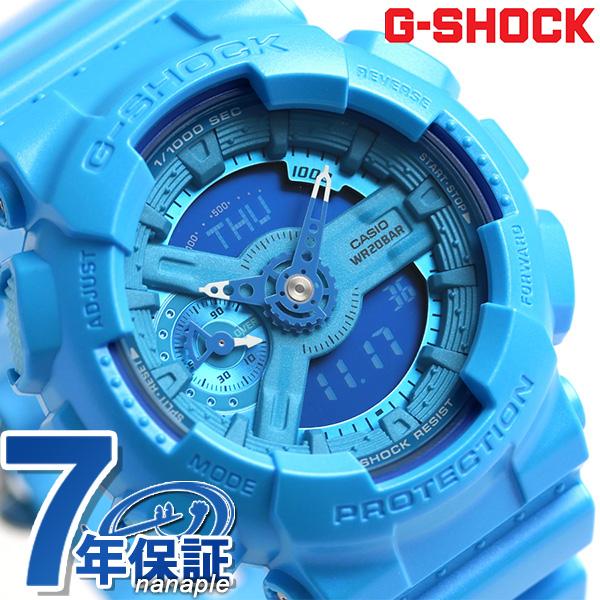 G-SHOCK S series quartz men watch GMA-S110VC-2ADR Casio G-Shock light blue