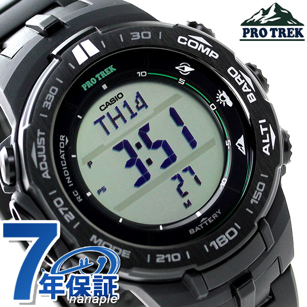 Nanaple casio proto lec slim line electric wave solar men prw 3100fc 1dr casio pro trek watch for Protos watches