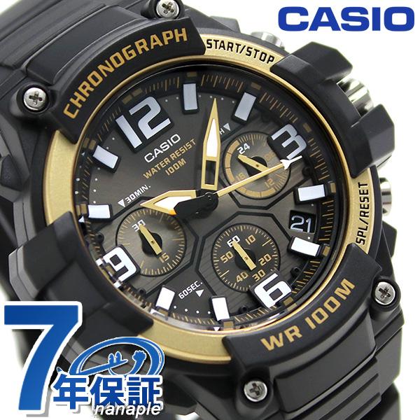 28978ccd29 カシオ チプカシ クロノグラフ 10気圧防水 メンズ MCW-100H-9A2VCF 腕時計 ブラック