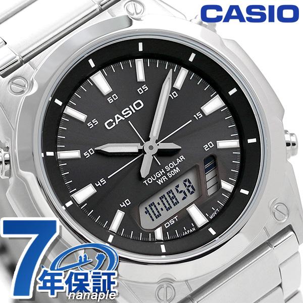 カシオ 腕時計 チープカシオ ソーラー メンズ AMW-S820D-1AVDF CASIO ブラック チプカシ 時計【あす楽対応】