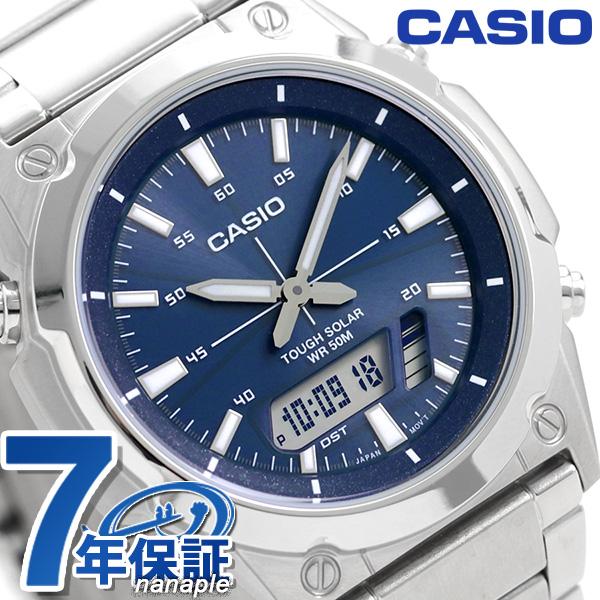 カシオ 腕時計 チープカシオ ソーラー メンズ AMW-S820D-2AVDF CASIO ブルー チプカシ 時計【あす楽対応】