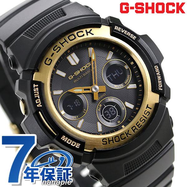 店内ポイント最大43倍!16日1時59分まで! G-SHOCK ブラック&ゴールドシリーズ 電波ソーラー 腕時計 AWG-M100SBG-1A カシオ Gショック 時計【あす楽対応】