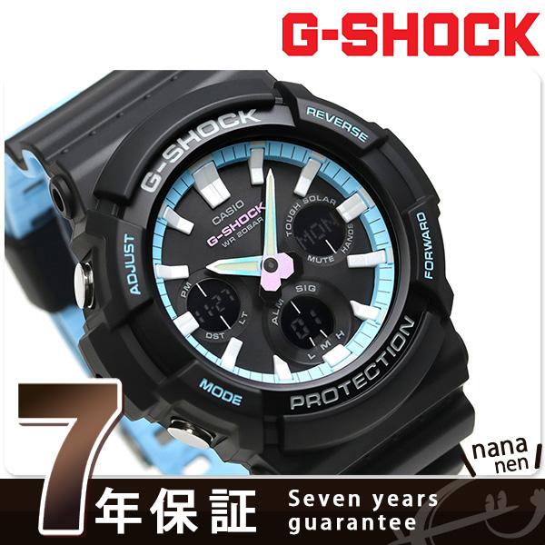 G-SHOCK スペシャルカラー ネオンアクセントカラー 腕時計 GAS-100PC-1ADR カシオ Gショック ブラック【あす楽対応】