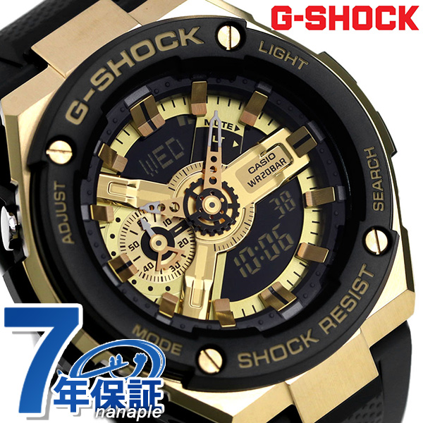 G-SHOCK ブラック Gスチール 海外モデル アナデジ メンズ 腕時計 GST-400G-1A9DR カシオ Gショック 時計【あす楽対応】
