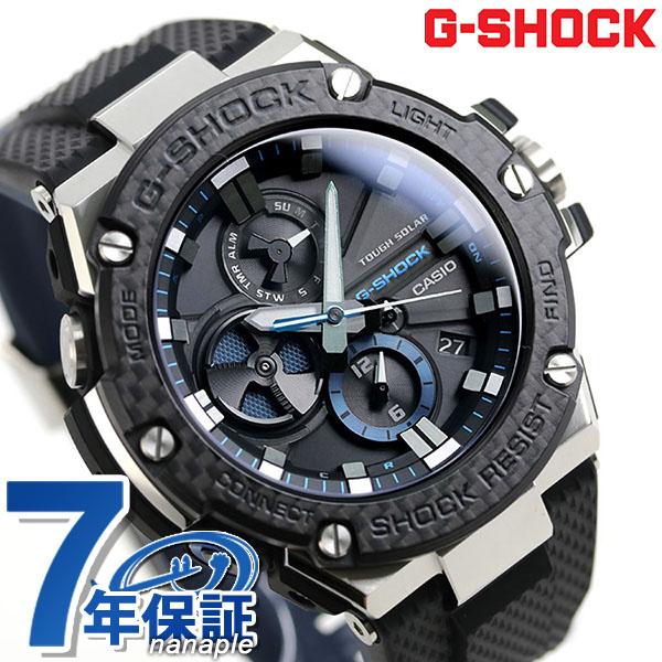 G-SHOCK ブラック Gスチール Bluetooth スマートフォンリンク ソーラー GST-B100XA-1ADR 腕時計 オールブラック 時計【あす楽対応】