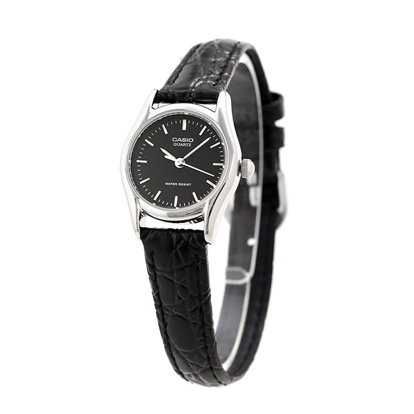 17401b630d5 Casio watch チープカシオレディース LTP-1094E-1ARDF CASIO ブラックチプカシ clock. 4.00 1