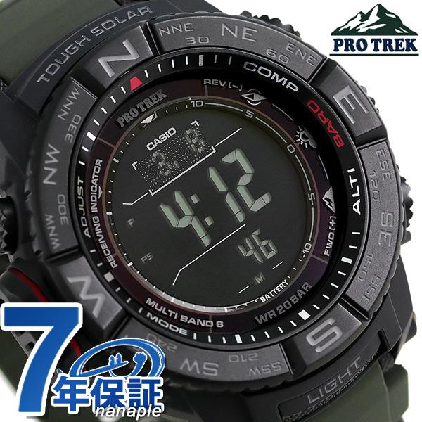 店内ポイント最大43倍!16日1時59分まで! 【4月中旬入荷予定 予約受付中♪】カシオ プロトレック 電波ソーラー メンズ 腕時計 PRW-3510Y-8ER CASIO PRO TREK ブラック 時計