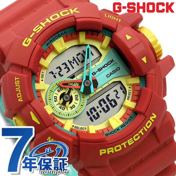 G-SHOCK ブリージーラスタカラー アナデジ メンズ 腕時計 GA-400CM-4ADR Gショック レッド 時計【あす楽対応】