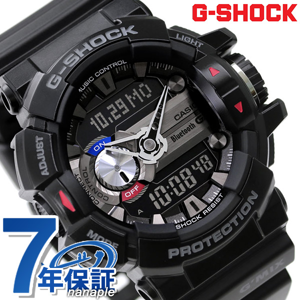 san francisco 09400 d89b1 G-SHOCK ジーミックス Bluetooth mobile link GBA-400-1ADR black G-Shock watch clock