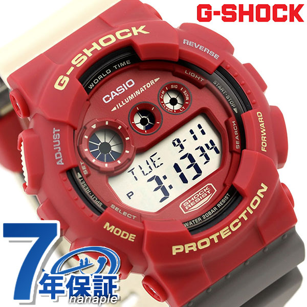 G-SHOCK special color men watch digital GD-120NC-4DR Casio G-Shock red clock a9373d465d3