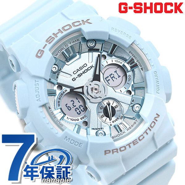 G-SHOCK G-Shock S series foreign countries model GMA-S120 men watch  GMA-S120DP-2ADR CASIO pastel blue