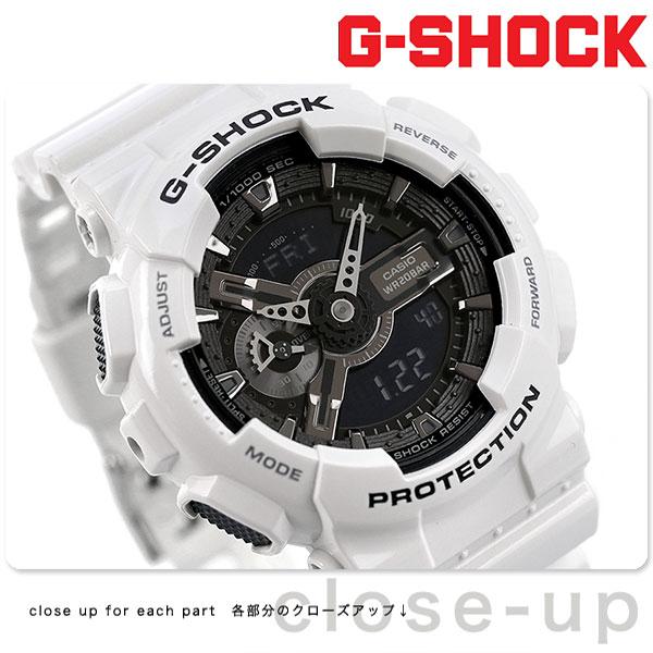 G-SHOCK CASIO GA-110GW-7ADR メンズ 腕時計 カシオ Gショック ホワイト&ブラックシリーズ ブラック × ホワイト 時計【あす楽対応】