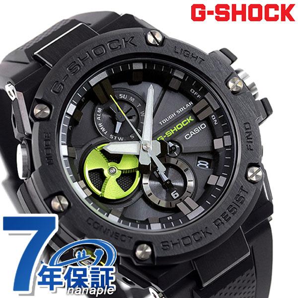 G-SHOCK ソーラー メンズ Gスチール Bluetooth GST-B100B-1A3DR 腕時計 Gショック 時計 オールブラック×イエロー【あす楽対応】