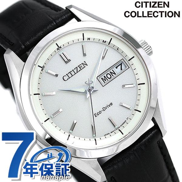 【4月下旬入荷予定 予約受付中♪】シチズン エコドライブ 電波 メンズ 腕時計 AT6060-00A CITIZEN COLLECTION シルバー×ブラック 時計