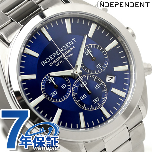 店内ポイント最大43倍!16日1時59分まで! インディペンデント 腕時計 メンズ クロノグラフ ブルー INDEPENDENT BR1-412-71 時計【あす楽対応】
