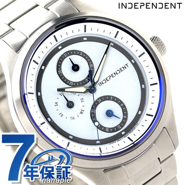 インディペンデント ソーラー マルチファンクション KB1-210-11 INDEPENDENT 腕時計 ホワイト 時計