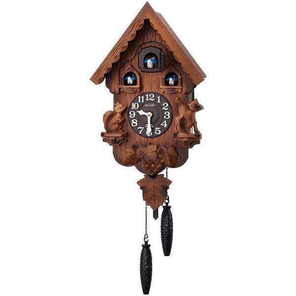 クロック リズム 掛時計 クオーツ 鳴り止めスイッチ付 4MJ221RH06 RHYTHM 時計