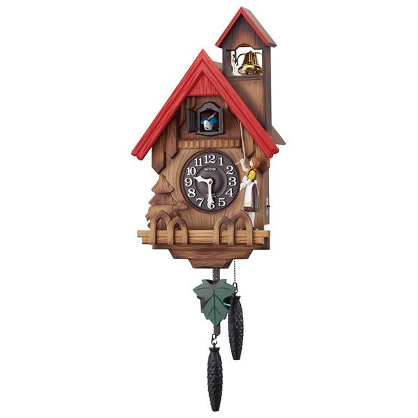 クロック リズム 掛時計 クオーツ 鳴り止めスイッチ付 4MJ732RH06 RHYTHM 時計