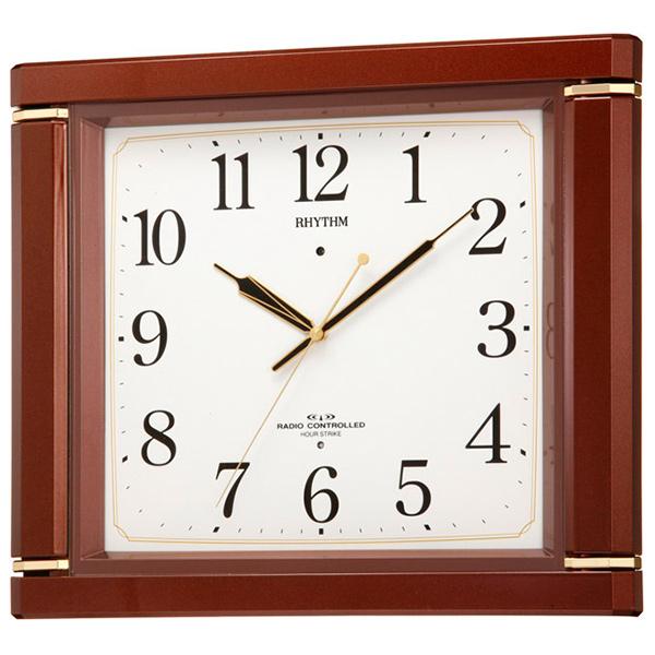 クロック リズム 掛時計 電波 夜眠る秒針 4MN494RH06 RHYTHM 時計