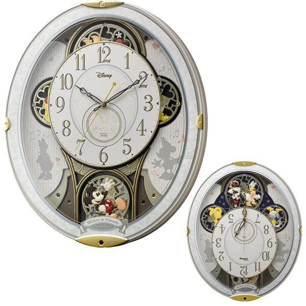 クロック ミッキーマウス 掛時計 電波 4MN509MC03 Mickey Mouse 時計