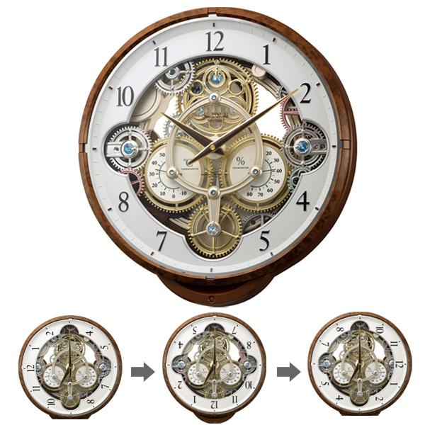 クロック スモールワールド 掛時計 電波 オーロラサウンドメロディ 4MN515RH23 Small World 時計
