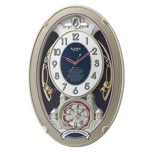 クロック スモールワールド ウィッシュ 掛け時計 4MN544RH18 Small World 時計