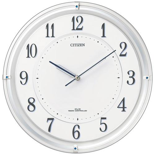 シチズン 電波 ソーラー 掛時計 サイレントソーラー M817 ホワイト 4MY817-003 時計